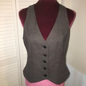 NINE WEST Suit Separates Hounds-tooth Vest